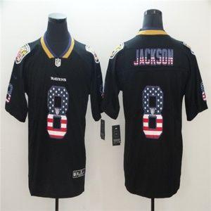 Baltimore Ravens #8 Lamar Jackson Jersey black